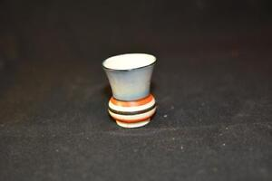 Vintage-Hand-Painted-Festive-VASE-Japan-TOOTHPICK-HOLDER-Luster-Glaze-50-60s-Old
