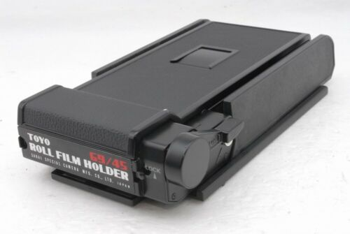 Exc+ Toyo 69/45 Roll Film Back Holder 6x9 to 4x5 Camera *TP6598