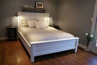 Local Salvaged Solid Wood Bed Frame, Choice of colours. By LIKEN
