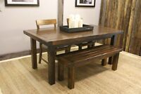 Reclaimed Wood Dining Table $1395 & Bench $495 By LIKEN