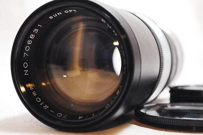 Near Mint  Sun Opt  Sun Zoom Ys 70 70 210Mm F4 Lens M42 Mount W Metal Screw Cap