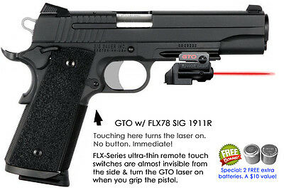 1911 TR25G Ruger ArmaLaser Touch-Activated Laser Sight Kimber Green