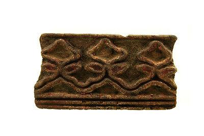 Antique Bunta Stamped Wood Printing Fabric Textile Batik Rajasthan India X20