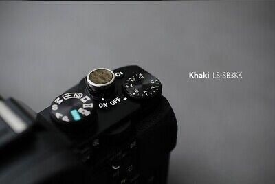LIM'S Genuine Leather Soft Shutter Release Button for Leica Sony DSLR SLR Khaki