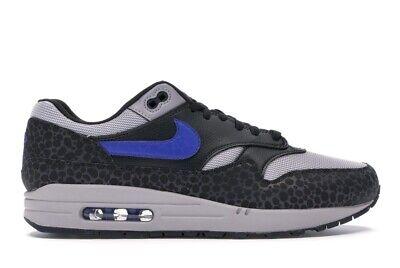 Nike Air Max 1 SE Reflective Safari Print Off Noir Blue BQ6521-001 Size 9.5 New