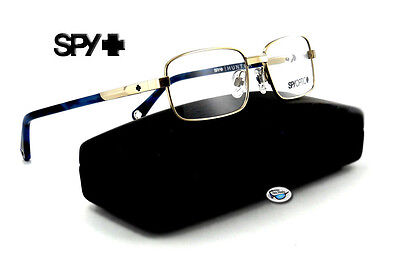 New Spy Optic HUNTER Rx Eyeglasses | Brushed Chrome with Navy / Clear Demo Lens
