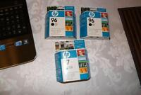 3 brand new HP cartriges, $5 each it costs $40 each new
