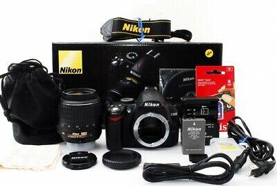 Nikon D3000 10.2MP DX VR 18-55mm Lens Kit [Exc+++] w/Box,8GB SD,Strap,Case [jkh] Nikon D 3000 Kit