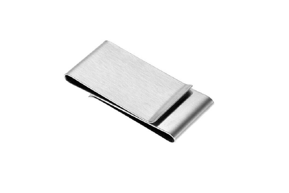 Double Sided Money Clip Credit Card Holder Wallet Stainless Steel Card Holder US Clothing, Shoes & Accessories