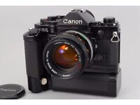 Like New Canon A-1 Camera with 50mm F1.4 S.S.C Lens Outfit