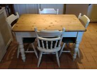 Farmhouse style Kitchen Table and 4 Chairs