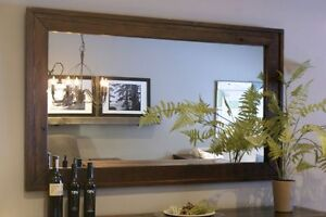 In Stock: Salvaged Wooden Frame Mirror $495. By LIKEN