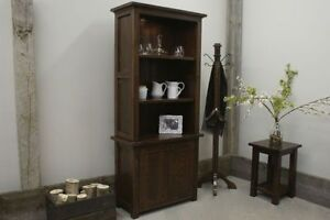 French Antique Bookcase Cabinet, All Wood! By LIKEN Woodworks
