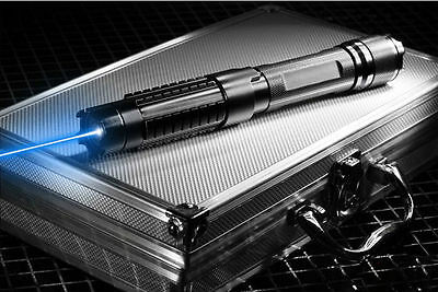 High Power 445nm Focus Visible Blue Beam Laser Pointer Pen Box Burn match 5MW