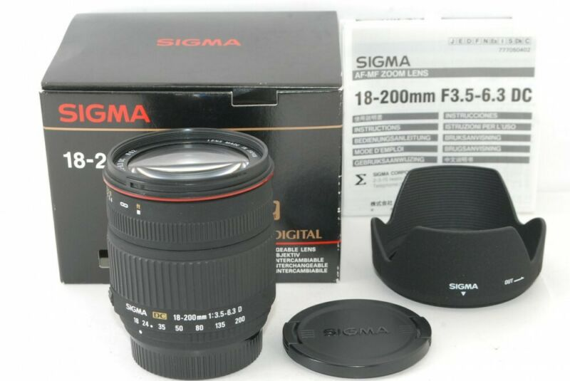 SIGMA 18-200mm F3.5-6.3 DC for Nikon Mint!! from Japan 201086