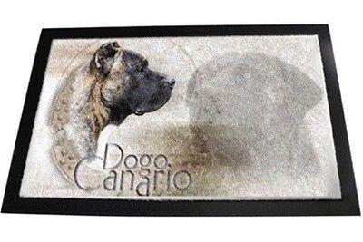 Designer Fußmatte Dogo Canario Presa Alano 2 Fussmatte Fussabtreter