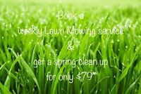 Book weekly service and pay ONLY $79 for a Spring clean up!