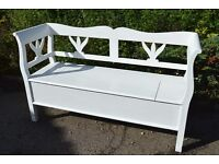 3 Seater Solid Wood Storage Bench (Indoors Only)