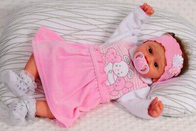 Kleid Baby Kleidchen Rosa Nicki 56 62 68 74 Taufe Fest Samt Warm Velour newborn