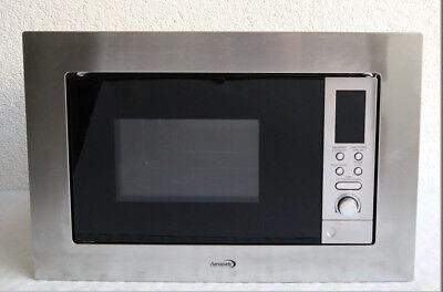 Einbau-Mikrowelle mit Grill. 20 Liter, 800 Watt ,edelstahl-schwarz 924 TOP X