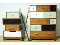 Vintage Multi-Coloured Chest - 10 Drawers - New - Free Delivery