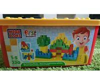 Mega Bloks blocks (like Duplo Lego) 220 piece extra large box toddler kids toys