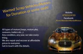 Wanted Motor Projects/Scraps (Cars, Vans, 4x4, etc...)