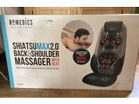 Homedics Shiatsu MAX 2.0 Back and Shoulder Massager with Heat