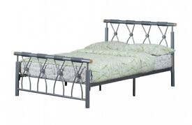 BRAND NEW - Melbury Single / Double / Small Double / Kingsize Metal Bed Frame & Choice of Mattress