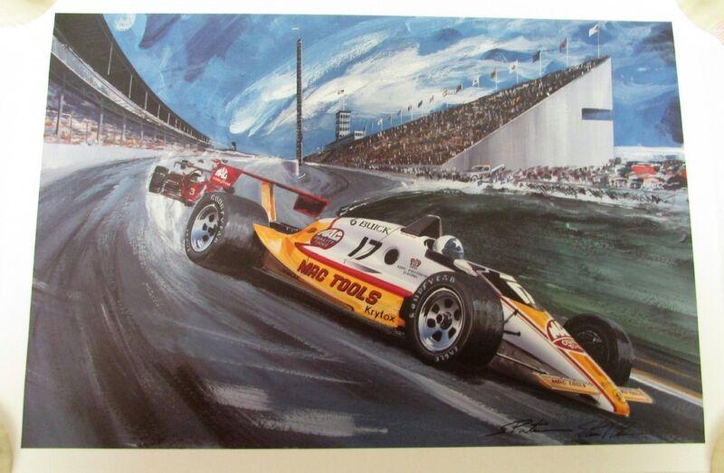 Johnny Rutherford #17 Indy 500 Racer 1988 Buick Artist Steve Pasteiner Signed