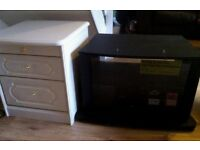 FREE TV STAND/TABLE AND BEDSIDE TABLE (BS3)