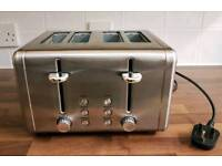 Used Morrison's 4 Slice Toaster | Stainless Steel Silver | Leeds