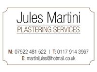Jules Martini Plastering Services- Internal and external specialist.