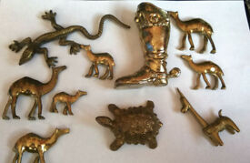 job lot of brass figures