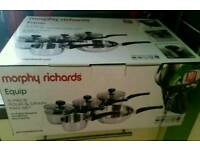 Murphy Richards equip pan set **brand new**