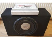 CAR ACTIVE SUBWOOFER JBL GTO 1200 WATT 12 INCH BASS BOX WITH BUILD IN AMPLIFIER SUB WOOFER AMP