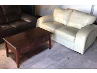 FREE leather sofa & coffee table