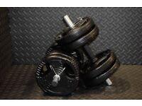 21KG Adjustable Dumbbells Pair of Gym Weights
