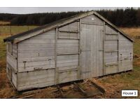 1 of 4 Smith Sectional Buildings Haywood Chicken Hen Hutch House Houses (100 hen capacity).