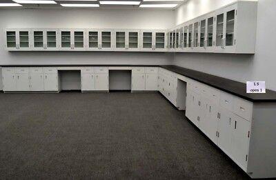 39 Base 36 Upper Laboratory Cabinets Furniture Desk W Tops-e1-523