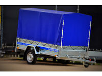 CAMPING TRAILER BOX TRAILER BRAND NEW Fully legal in UK & EU 8ft x 4 ft