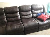 Seven seater recliner corner sofa