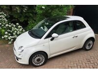 Immaculate Fiat 500 1.2 Lounge, 3dr, one lady owner, very low mileage, long MOT