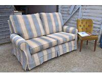 Stunning MultiYork 2 Seater Sofa RRP £3800 **FREE LOCAL DELIVERY** Duck Egg Blue Stripe(Duresta)