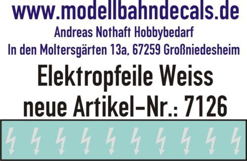 10 Gauge 1 White Elektropfeile 0 5/32x0 1/16in - Decals Top 032-7126