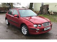 Rover 25 for sale, MOT, drives good.