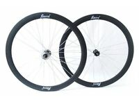Fincci Single Speed Fixed Bike Bicycle Wheels 700c 45mm Pair Various Colours Black White Grey Blue