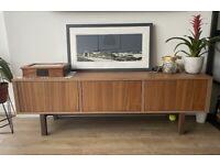 TV bench walnut 160x40x50cm
