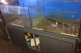 5FTx2FT CASCADING FISH TANK & CABINET 400LITRES FOR PLANT CORAL DISPLAY - DELIVERY - 07544000786