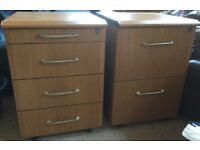 Under Desk Filing Cabinet and Drawers - Top Quality - Excellent Condition